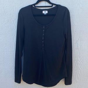 Black Long Sleeve Old Navy Top